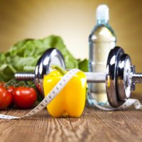 Healthy lifestyle concept diet and fitness