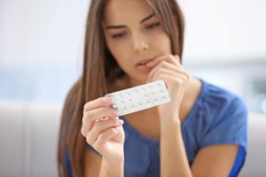 woman choosing contraception