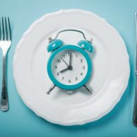 clock on a plate