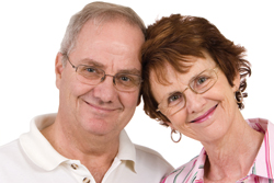 Image of an elderly couple happy because erectile dysfunction has been dealt with