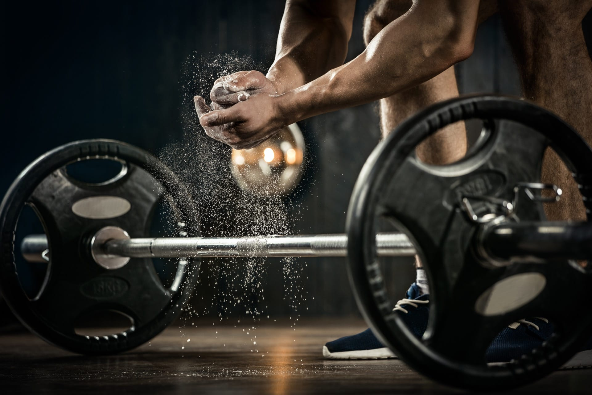 athlete getting ready for weight lifting training your health